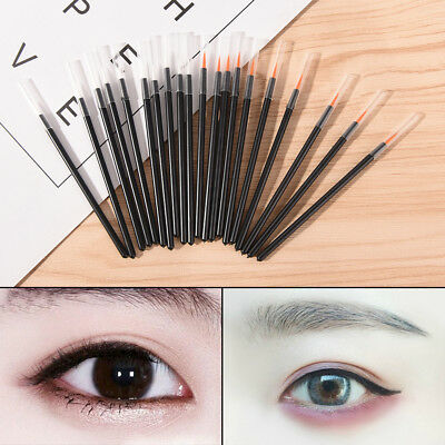 50Pcs Disposable Eyeliner Liquid Wand Applicator Brush Make up Brushes Tool NIU