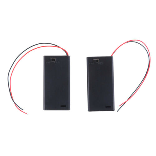 Details about 2PCS 3V 2 AA Battery Holder Case with ON/OFF Toggle Switch  Box Pack Cover VSN