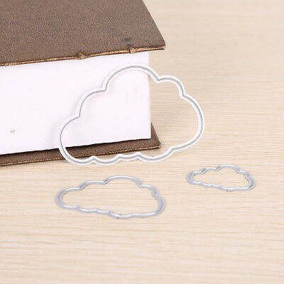 Cloud Metal DIY Cutting Dies Stencil Scrapbook Album Paper Card Embossing - Cloud Paper