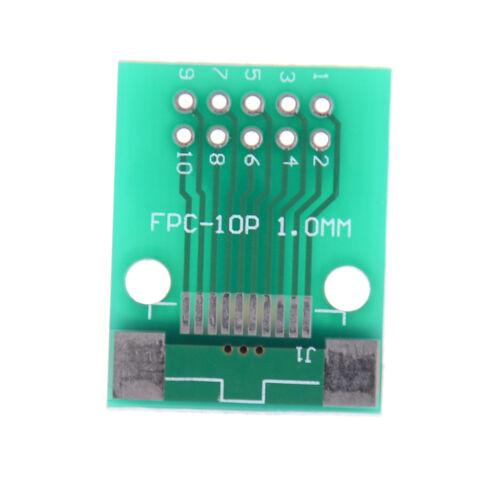 1Pcs 10-Pin 0.5mm FFC FPC to 10P DIP 2.54mm PCB Converter Board Adapter Pip