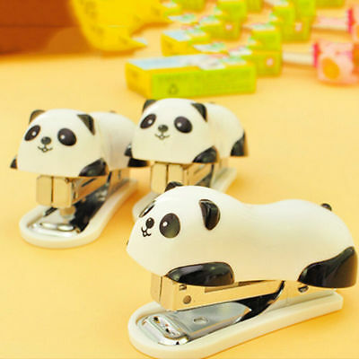 Mini Cute Panda Stapler Staples For Office Student School Home Set Plastic Paper
