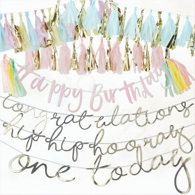 t Birthday Banner Boy Girl Party Bunting Garland Decorations (1. Birthday Boy Banner)