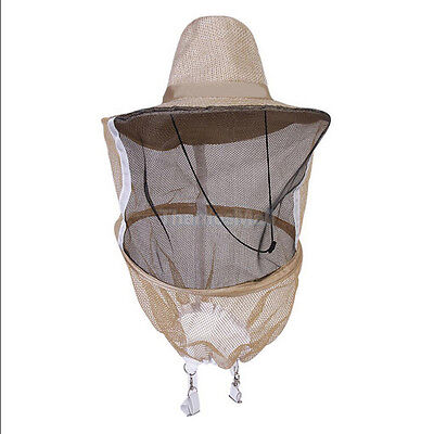 Beekeeping Beekeeper Cowboy Hat Mosquito Bee Insect Net Veil Face Head Protec Sx
