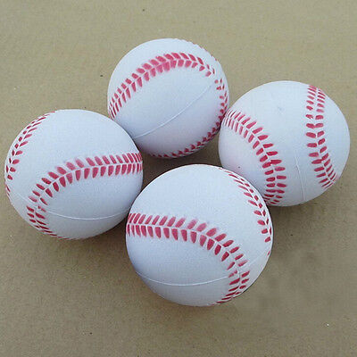 Baseball Hand Wrist Exercise Stress Relief Relaxation Squeeze Soft Foam Ball  EP](Baseball Stress Ball)