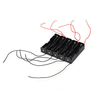 5pcs Black Battery Storage Box Case Holder for 3.7V 18650x1 Batteries PR