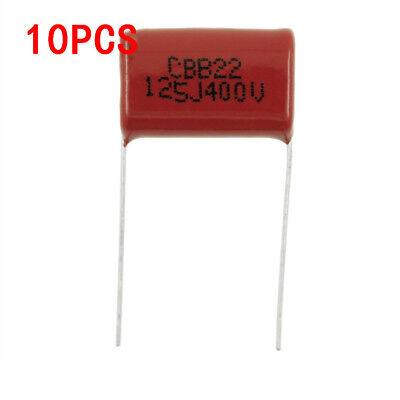 10pcs Cbb Metallized Polyester Film Capacitor 400v 125j 1.2uf Pin 20mm