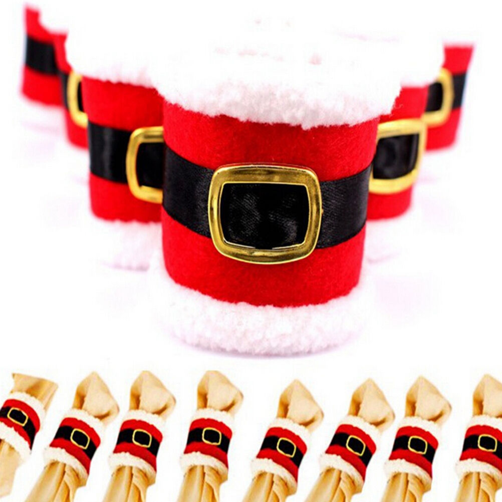 4pcs christmas napkin rings serviette holder wedding for Deco de table noel