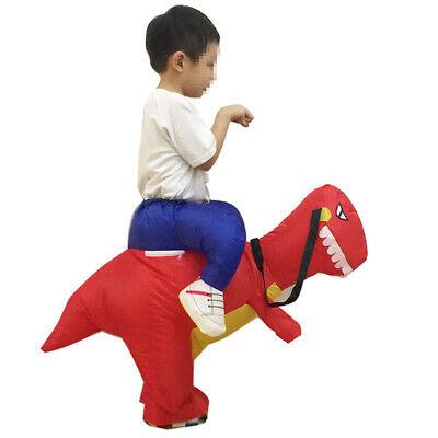 Dinosaur Dress Up Costume (Adult & Kid T-Rex Jurassic World Inflatable Dinosaur Costume Blow Up Fancy)