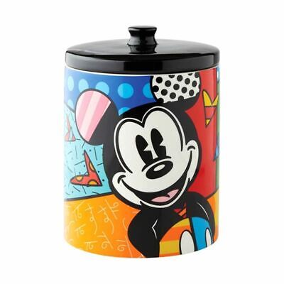 Disney Britto Mickey Mouse Cookie Jar Biscuit Tin - Boxed Storage Container