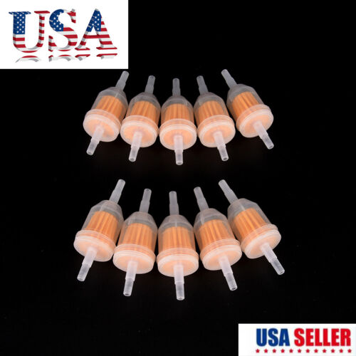 """10Pcs 1/4"""" 6mm/8mm Inline Gas Fuel Filter For Yamaha Small E"""