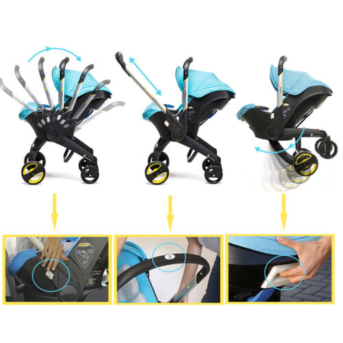 New 4 in1 Portable Born Baby Car Seat Stroller Trolley With