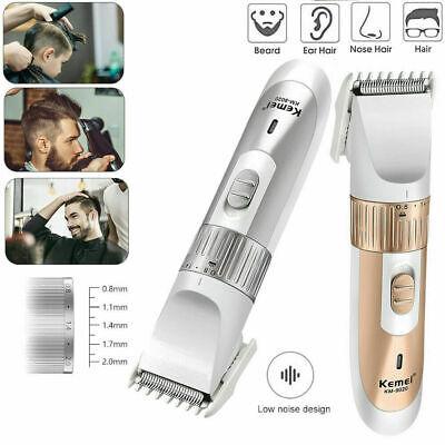 Aparador de cabelo sem fio Mens Barber Set Recarregável Aparador de barba Barbeador Navalha