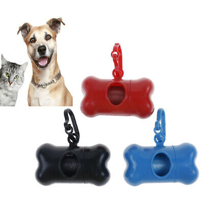 Disposal Bag Holder - Poo Bags Pet Dog Cat Waste Disposal Bag Dispenser Poop Carrier Holder Bone CCYN