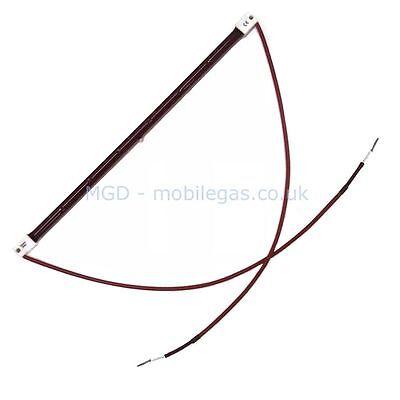 3 x 352 mm 1500W Watt 1.5 kw SK15 Ruby Infrared Heater Bulb Element Wires Leads