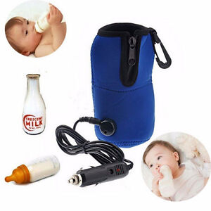 12V Food Milk Water Drink Bottle Cup Warmer Heater Car Auto Travel Baby OK