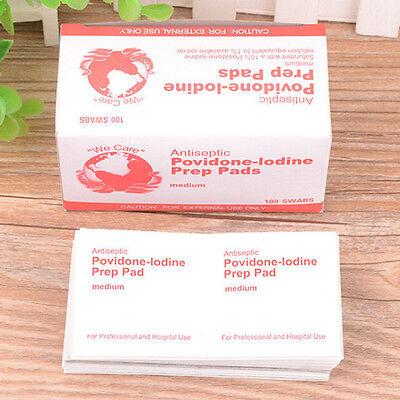 10XFirst aid Iodine tablets Antiseptic Povidone-lodine Prep Pad for emergency ZY