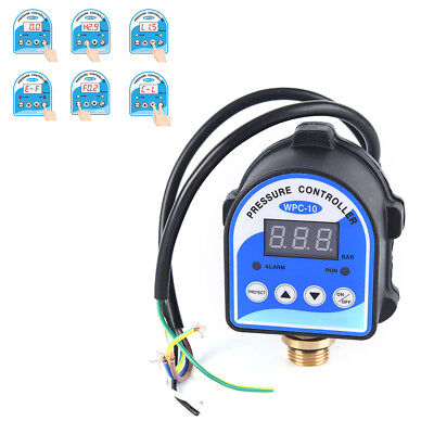 1pc Wpc-10 Digital Water Pressure Switch Digital Display For Water Pump Hp