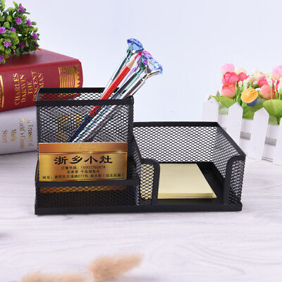 Metal Mesh Home Office Pen Pencils Holder Desk Stationery Storage Organizer BoxF ()