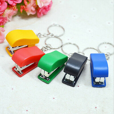 Portable Keychain Mini Cute Stapler For Home Office School Paper Bookbinding Mo