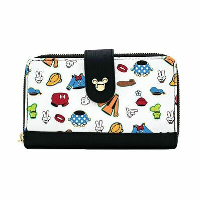 Loungefly x Disney Classic Character Clothing Zip Around Purse