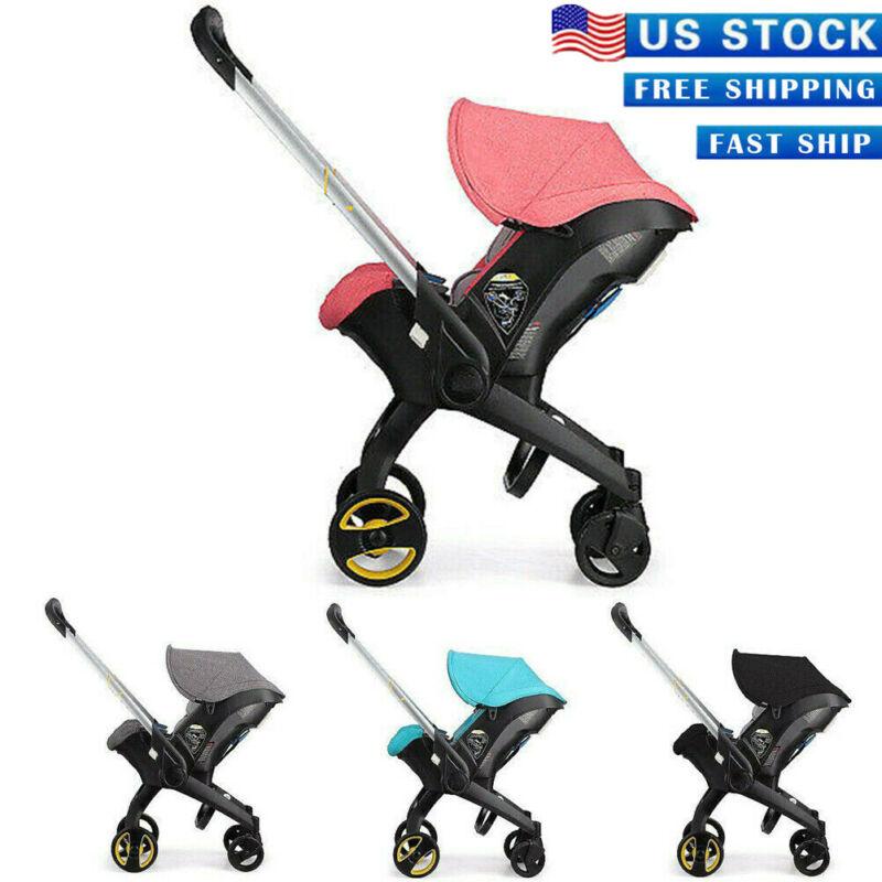 4 in1 Newborn Baby Stroller Carriage Basket Portable Travel