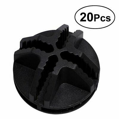 20X/LOT Plastic Connector Wire Mesh Storage Cube Mini Grid Push Snap Corner -