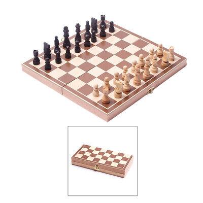 88 Damen Spieler (3-in-1 Spielset Schach Backgammon Dame mit Spielfiguren Würfel Spielbrett Holz)