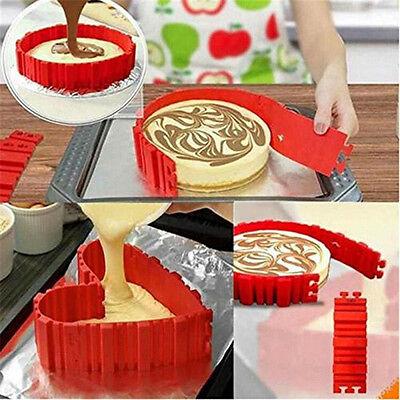 4er Silikon DIY Backform Kuchen Form Schlange Herz Erstellen Chape Nonstick Tray