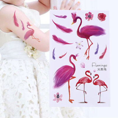 Flamingo Stylish Body Art Sticker Waterproof Removable Temporary Totem Tattoo hd