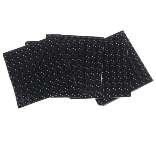 как выглядит 100Pcs Black Self Adhesive Rubber Feet Semicircle Bumpers Door Buffer AECUSXXSG фото