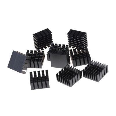 10 Pcs 20x20x10mm Heat Sink Heatsinks Cooling Aluminum Radiator Esnich