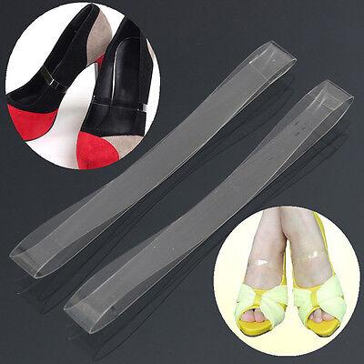 4x klare transparente unsichtbare High Heel Schuhgurte für lose Schuhe halten CN