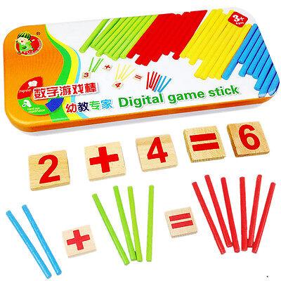 Digital Game Sticks Montessori Math Intelligence Educational Preschool KidsToyKZ