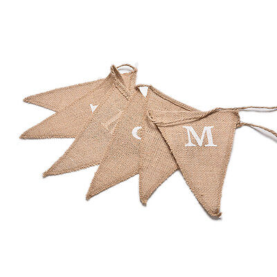 Hessian Burlap Rustic Wedding Party Decoration  CH and CHS Bunting Banner CH