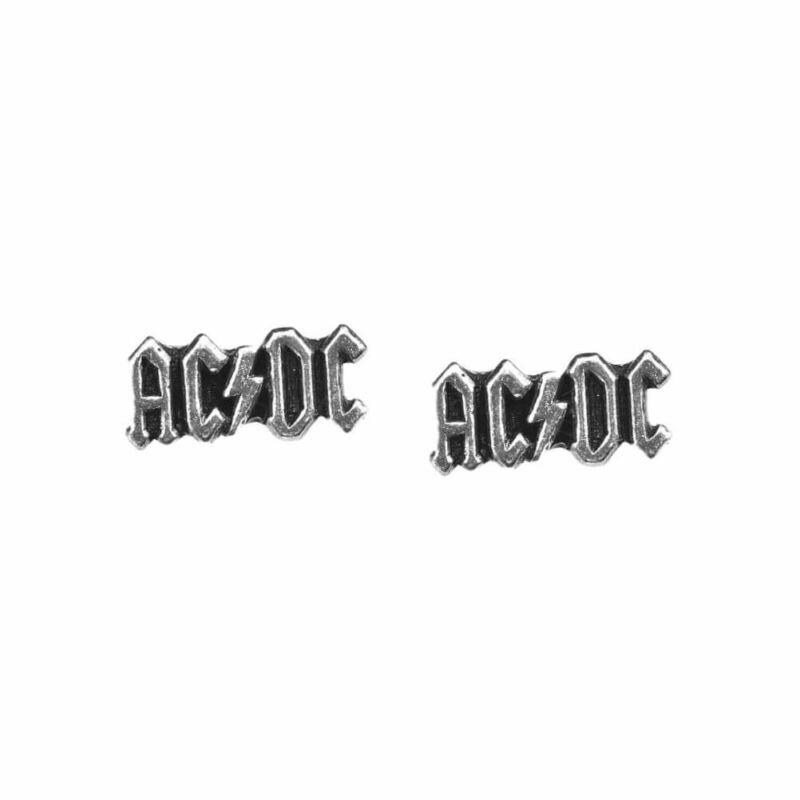 Alchemy Rocks AC/DC Logo Ear Studs Earrings - Gothic logo England
