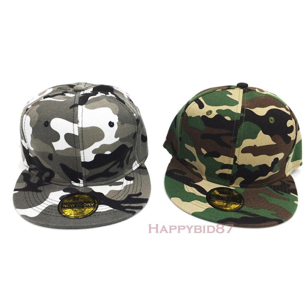 Details about Kids Boys Camouflage Snapback Hip Hop Baseball Cap Men Dad  Parent Child Hat New 30418b56d21c