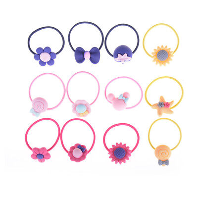 10x Lot Children Elastic Hair Band Candy Color Headbands Ropes Girls TH
