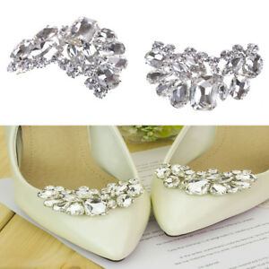 7ee1347b7 Shiny Bridal Wedding Shoes Clips Crystal Rhinestone Decor Accessories JH