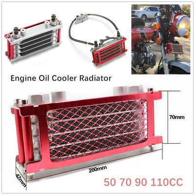 Dirt Bike Motorcycle Oil Cooler Radiator For 50 70 90 110CC Horizontal Engines