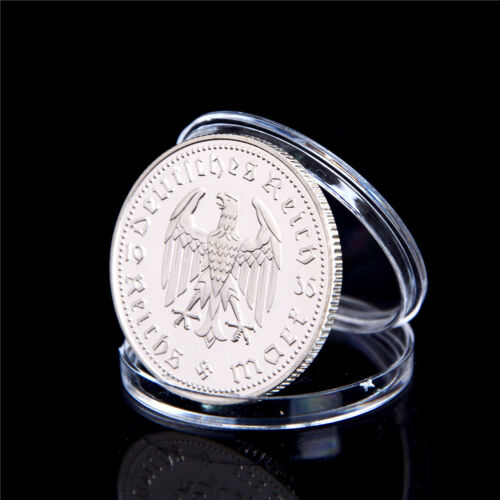 1Pcs Silver-Plated Coins Hindenburg President Commemorative Coin Gift  VE