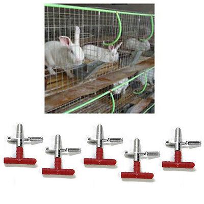 - 10 Pcs Nipple Waterer Drinkers Water Rabbit Guinea Pig Ferret Rat Mouse FeederSN