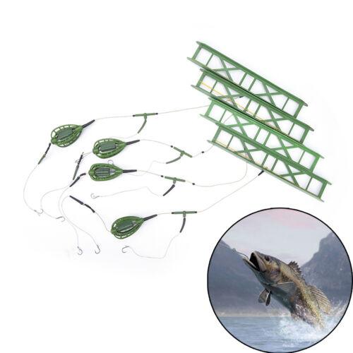 Fishing Hooks Fishing Bait Cage Lead Swivel With Line Hooks For Carp FeederQ9Q - $6.64