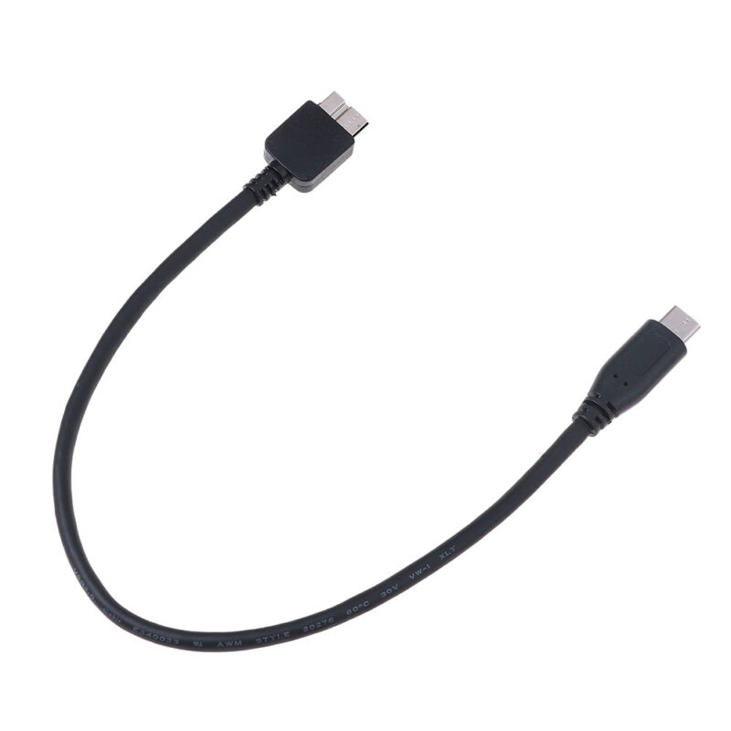 USB C To Micro Usb Cable Type C To Micro B Cable For Hdd Hard Disk 30cm PN - $6.22