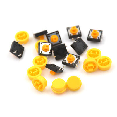 10PCS B3F-4055 Tactile Switch W/ Keycap Tact  Button Momentary 12 x12x7.3mm BR