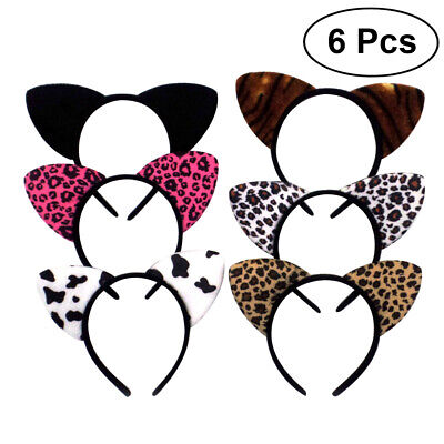 6 Pcs Cat Ears Head Band Cute Lovely Headband Party Cosplay Costume for Adults - Cute Cat Costumes For Adults