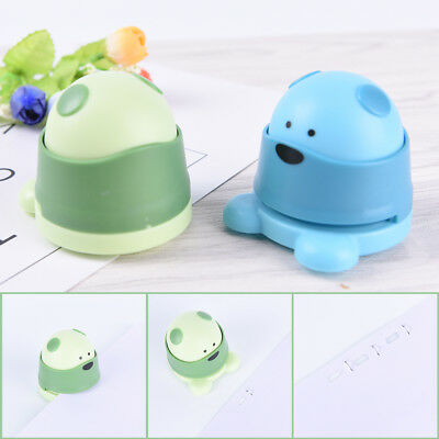 Creative Mini Bear Kids Student Office Stapleless Stapler Finisher Hj