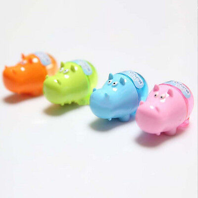 3x Stationery Hippo Pencil Sharpener  Student Kids Cute UVN