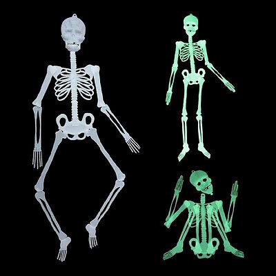 Leuchtendes menschliches Skelett hängende Dekoration Halloween Party Scary S CBL