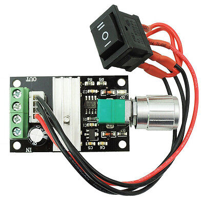 DC Motor Speed Controller Pulse Width Modulated PWM Reverse Driver Switch 6-24V