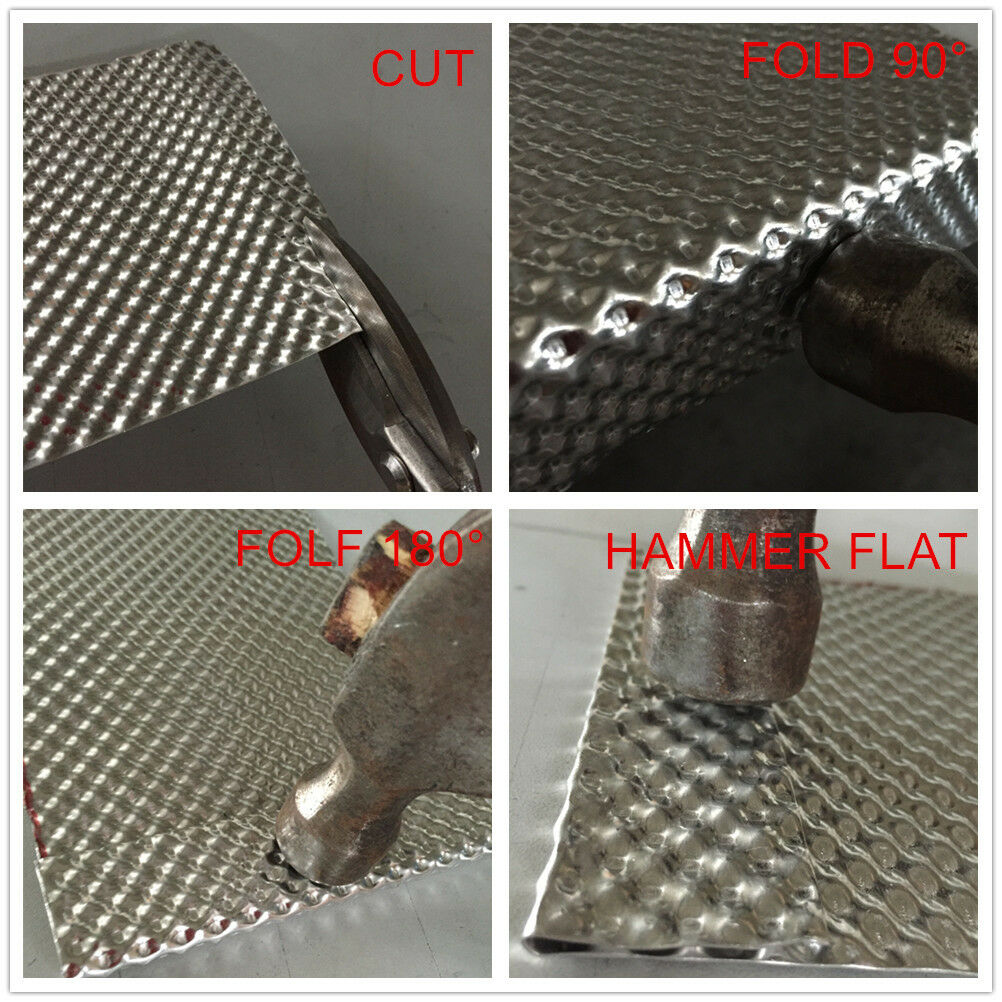 Aluminised Barrier Mat 250mm x 250mm New !! Exhaust Turbo Heat Shield